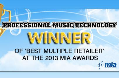 Professional Music Technology win the M.I.A 2013 Multiple Retailer Award!