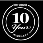 Free Warranty for up to 10 years on Roland & Boss Gear