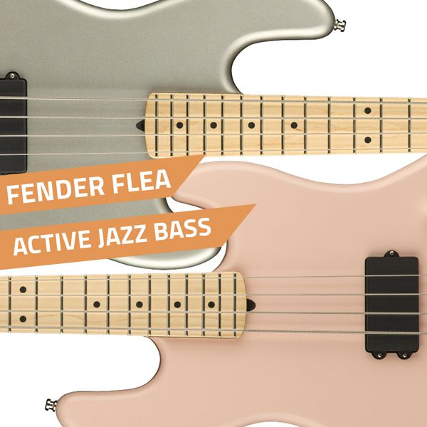 Pink And Silver Flea Basses