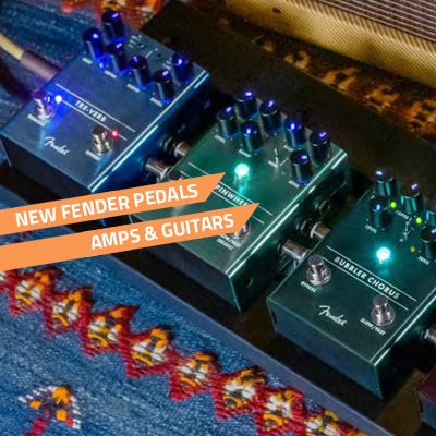 new fender pedals amps and starcaster