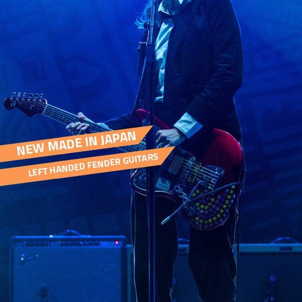 new japanese fender left handed guitars