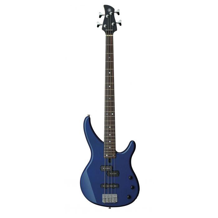 Overview of the Yamaha TRBX174DBM Bass Guitar in Dark Blue Metallic
