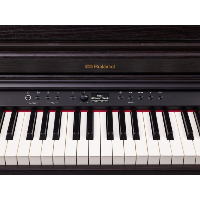 Front panel on a Roland RP701 Digital Piano, Dark Rosewood