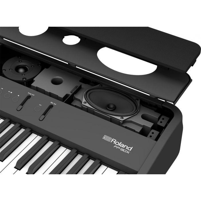 Roland FP-90X Premium Portable Piano Black speakers