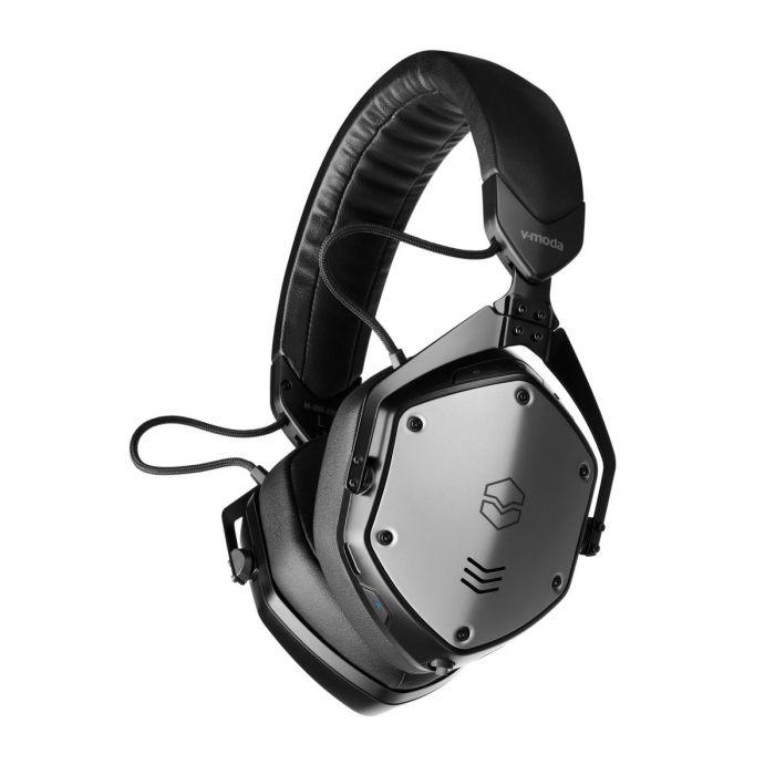 Angled view of the V-MODA M200BTA Bluetooth Headphones w case