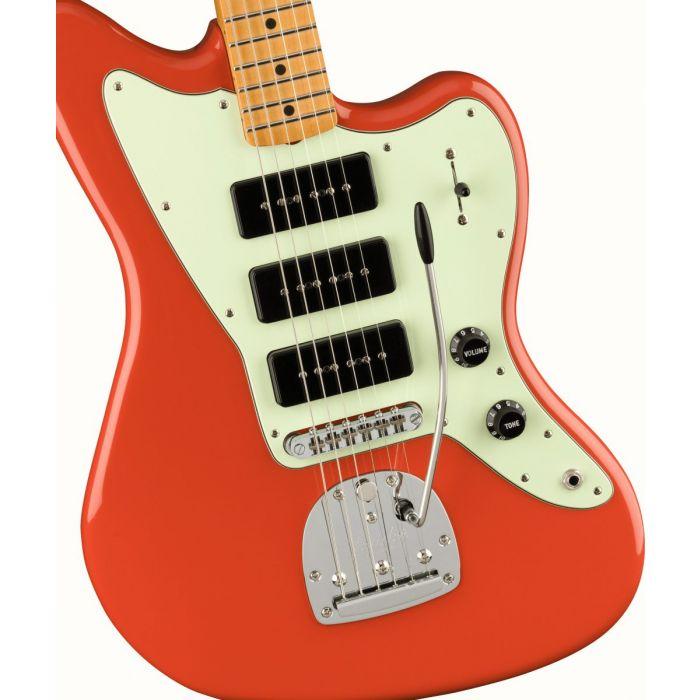 Fender Noventa Jazzmaster MN, Fiesta Red Zoom