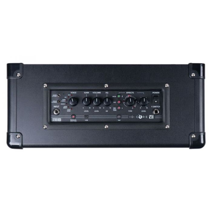 Top down view of the controls on a Blackstar ID:CORE 40 V3 40w Stereo Digital Combo