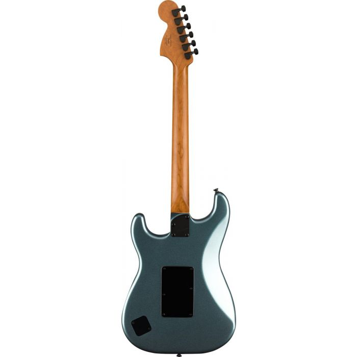 Squier Contemporary Stratocaster HH FR Roasted MN, Gunmetal Metallic Back View