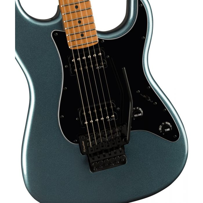 Squier Contemporary Stratocaster HH FR Roasted MN, Gunmetal Metallic Body Detail