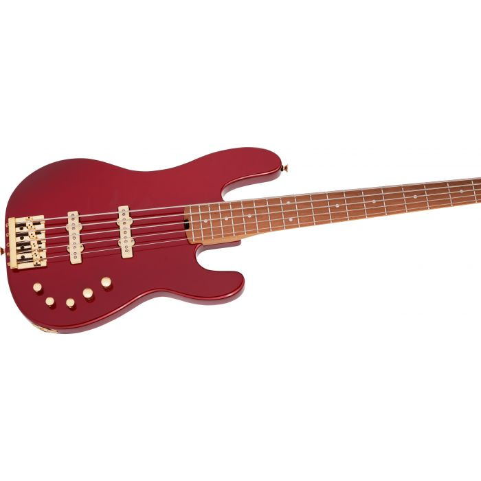 Red Charvel Bass Guitar