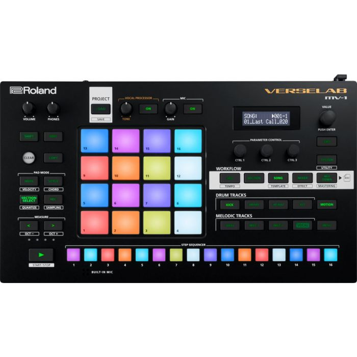 Roland VERSELAB MV-1 Song Production Studio Front