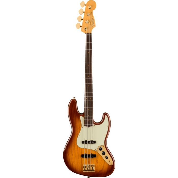 Overview of the Fender 75th Anniversary Commemorative Jazz Bass 2-Color Bourbon Burst