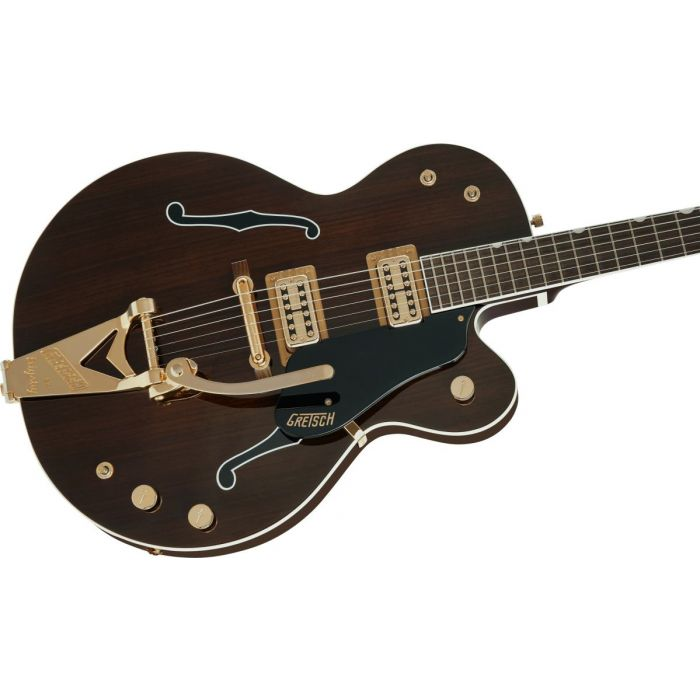 Body close up of the Gretsch G6119TG-62 Ltd 62 Rosewood Tenny with Bigsby