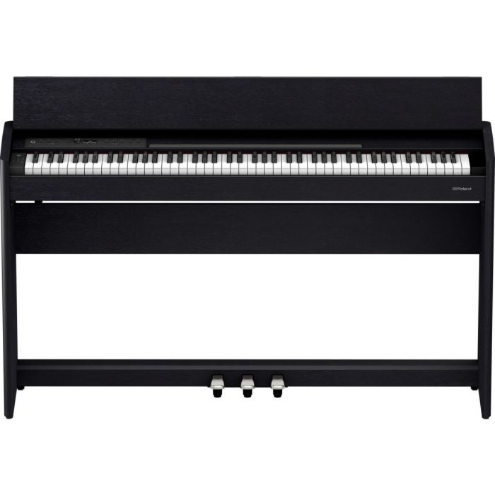 Front view of the Roland F701-CB Digital Piano Black