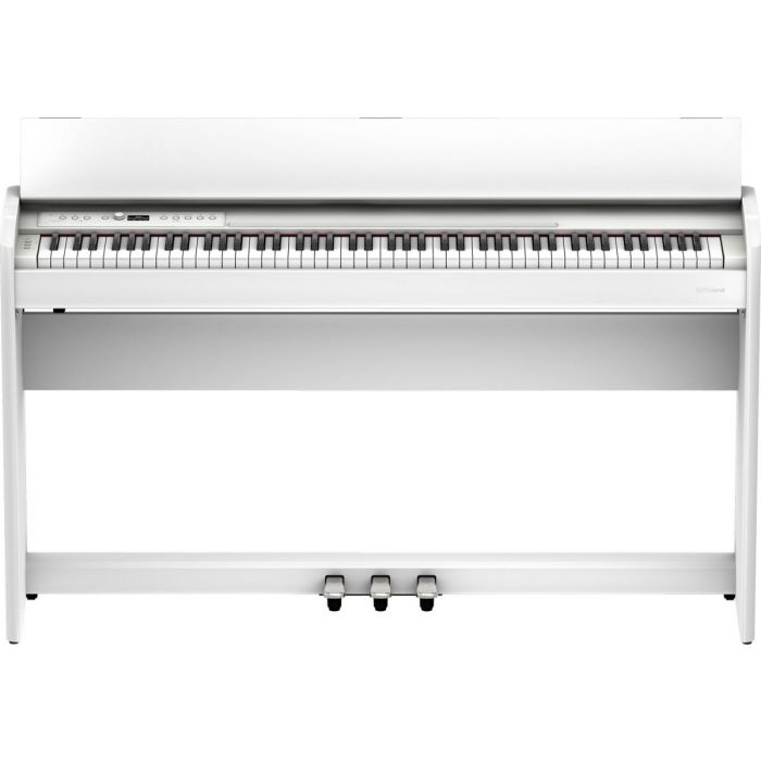 Front view of the Roland F701 Digital Piano White