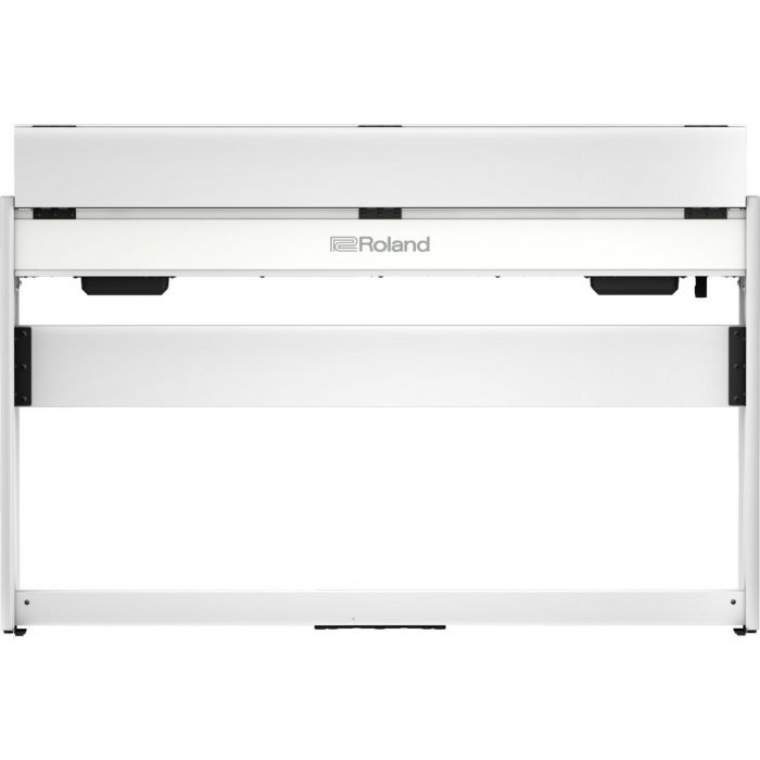Back view of the Roland F701 Digital Piano White