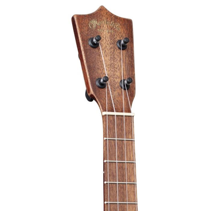 Front view of the headstock on a Martin T1 Tenor Ukulele Distressed Streetmaster