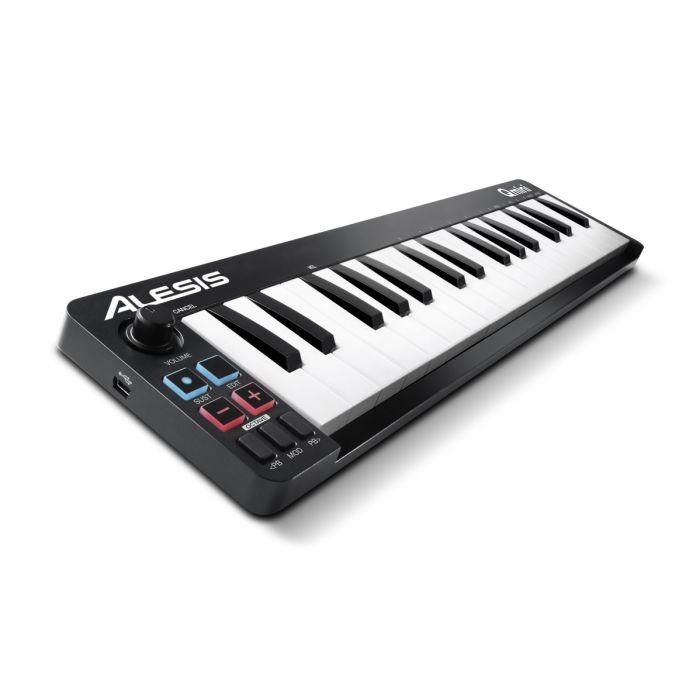 Alesis Qmini Compact 32 Key USB MIDI Keyboard Controller Angle