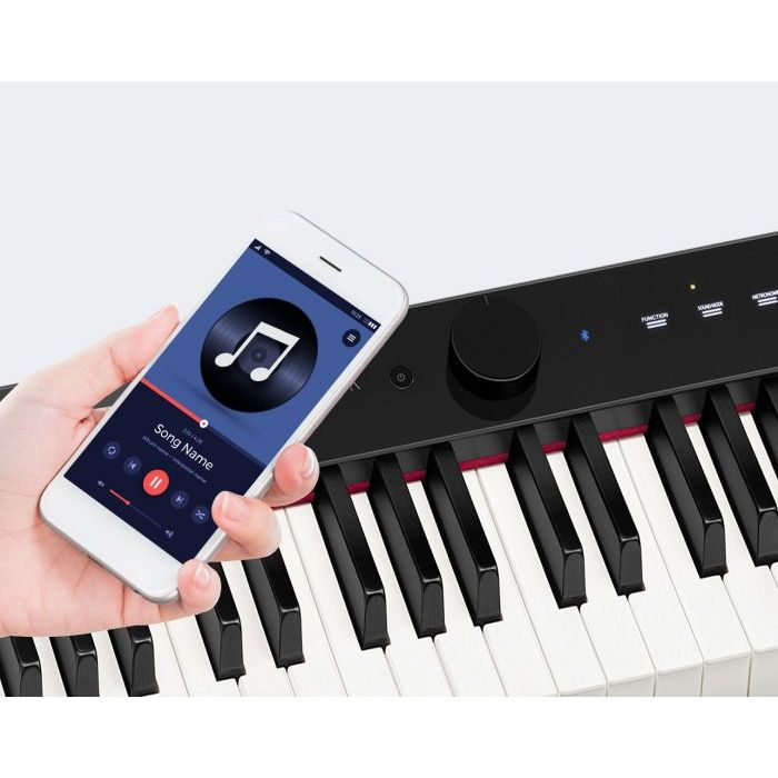 Casio Piano App with Black Keyboard
