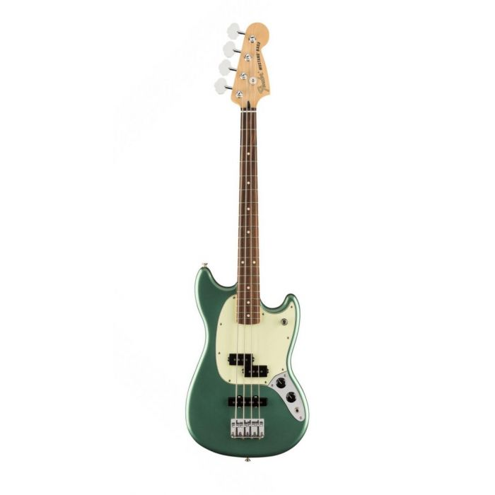 Overview of the Fender Ltd Edition Player Mustang Bass Sherwood Green Metallic