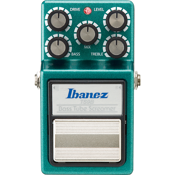 Top down view of a Ibanez TS9B Tube Screamer Bass Overdrive Pedal
