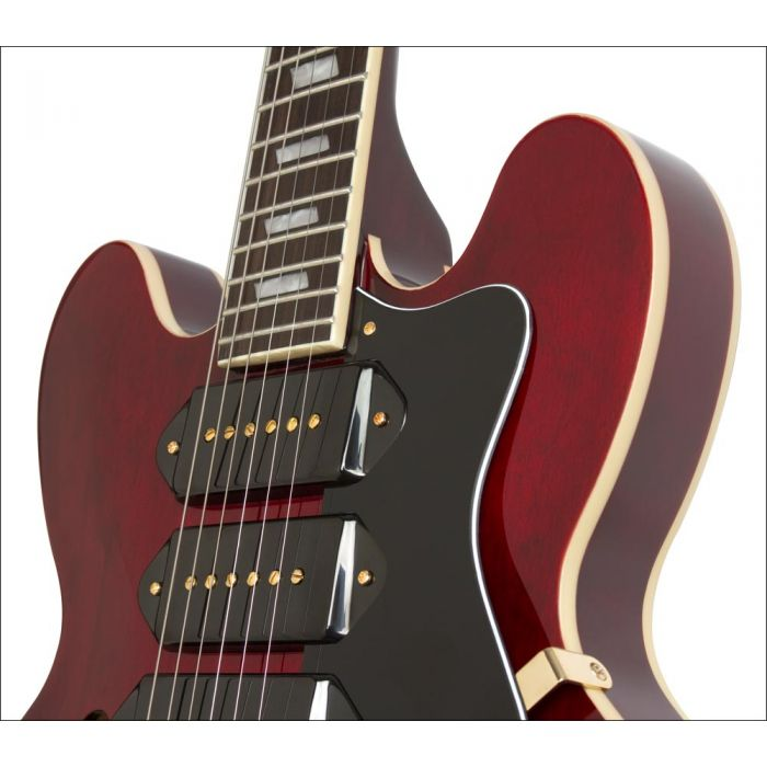 Epiphone Riviera Custom P93 in Wine Red with Bigsby Body