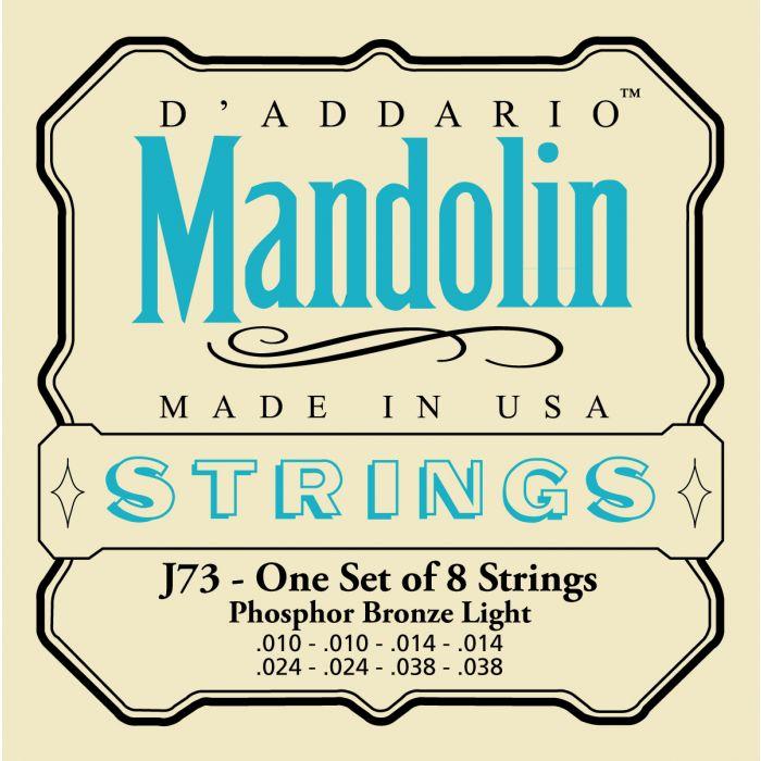 D'Addario EJ73 Light Mandolin Strings 10-38