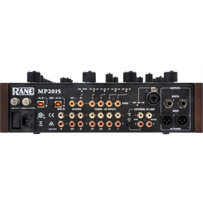 Rane MP2015 Rotary DJ Mixer Rear Panel