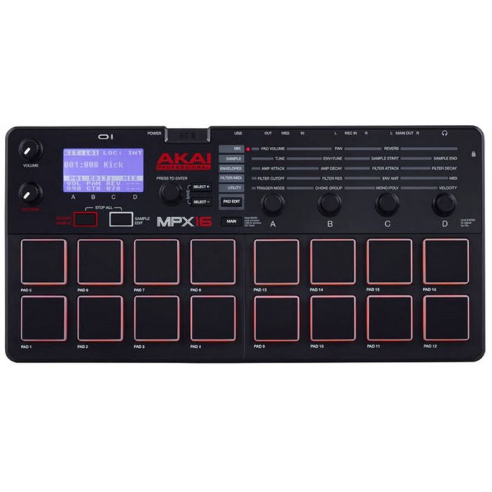 Akai MPX16 Drum Sampler and MIDI Controller