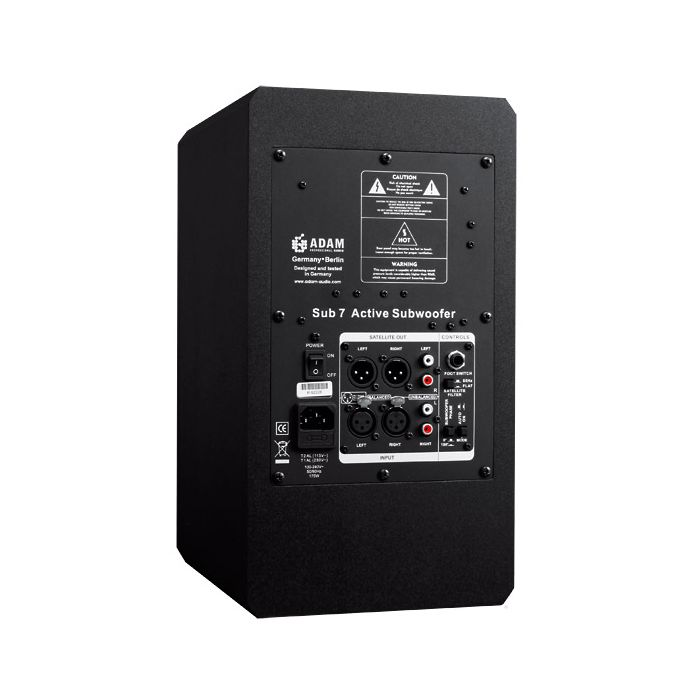 Adam Audio Sub7 Pro Rear Panel