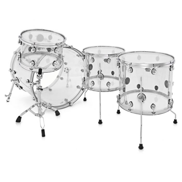 Natal Arcadia Acrylic 4-Piece Shell Pack in Transparent