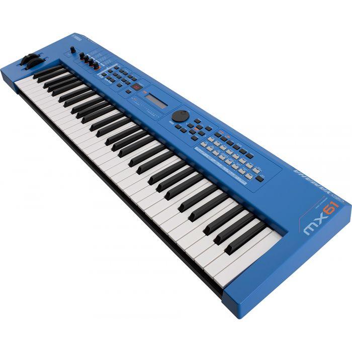 Yamaha MX61 Version 2 Synthesizer 61 Key Edition, Blue Angle