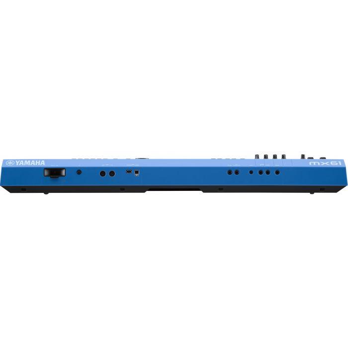 Yamaha MX61 Version 2 Synthesizer 61 Key Edition, Blue Rear