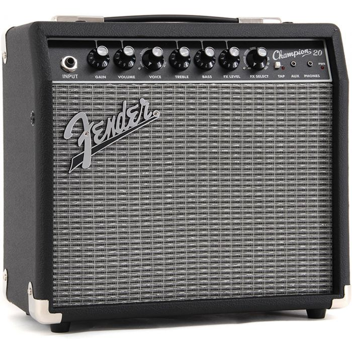 Fender Champion 20 Guitar Amplifier Combo Angle