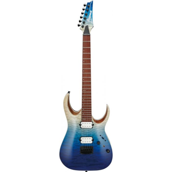 Ibanez RGA42HPQM-BIG RGA Series Electric Guitar, Blue Iceberg Gradiation front view