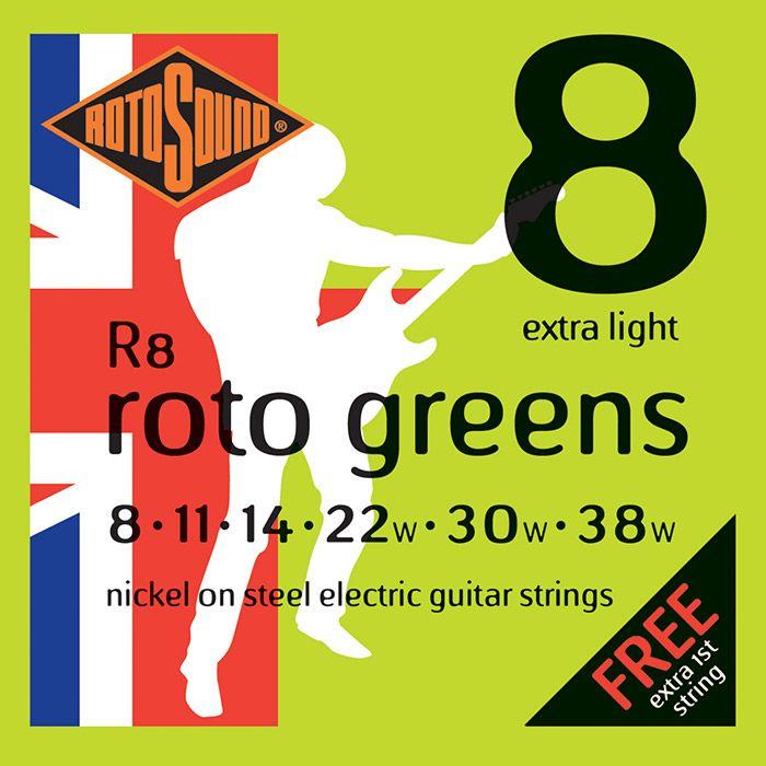 Rotosound R8 Roto Electric Guitar Strings Extra Light 08-38