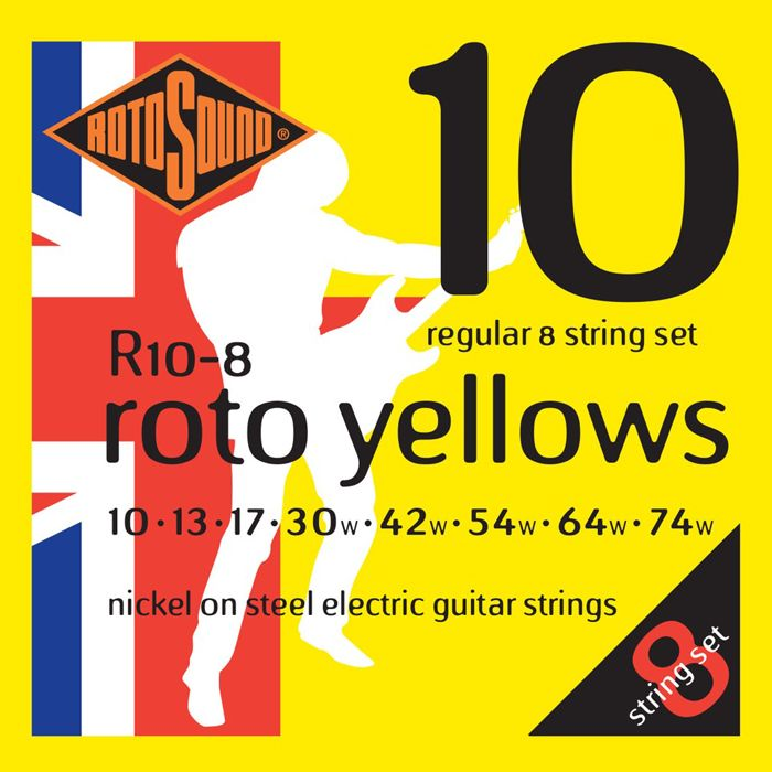 Rotosound Roto R10 8-String Electric Guitar Strings 10-74