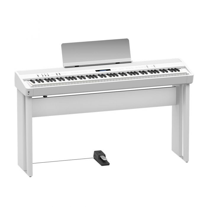 Roland FP-90 Digital Piano, White with Optional Stand