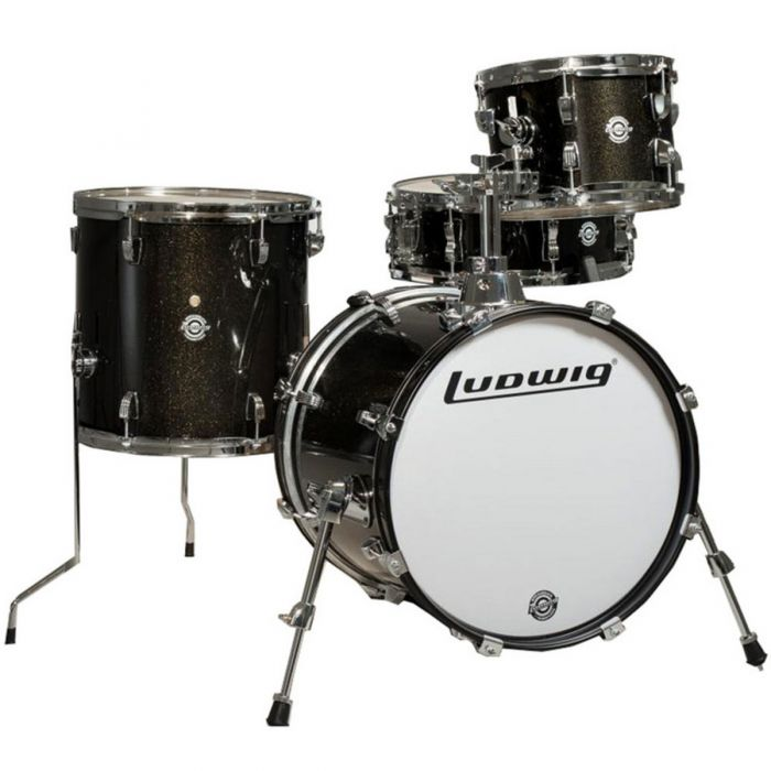 Ludwig Questlove Breakbeats Shell Pack, Black Gold Sparkle