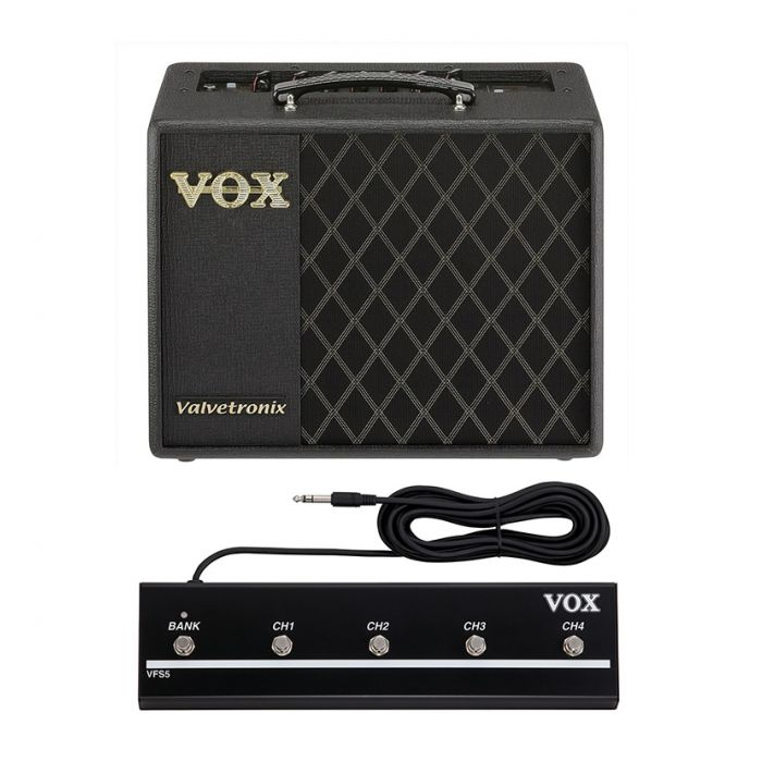 Vox VT20X Guitar Amplifier Combo Bundle with VFS5 Footswitch