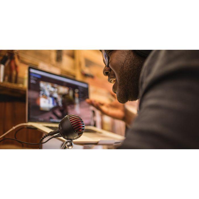 Shure Motiv MV5 Digital Condenser Microphone Vlogging (Black and Red Version Pictured)