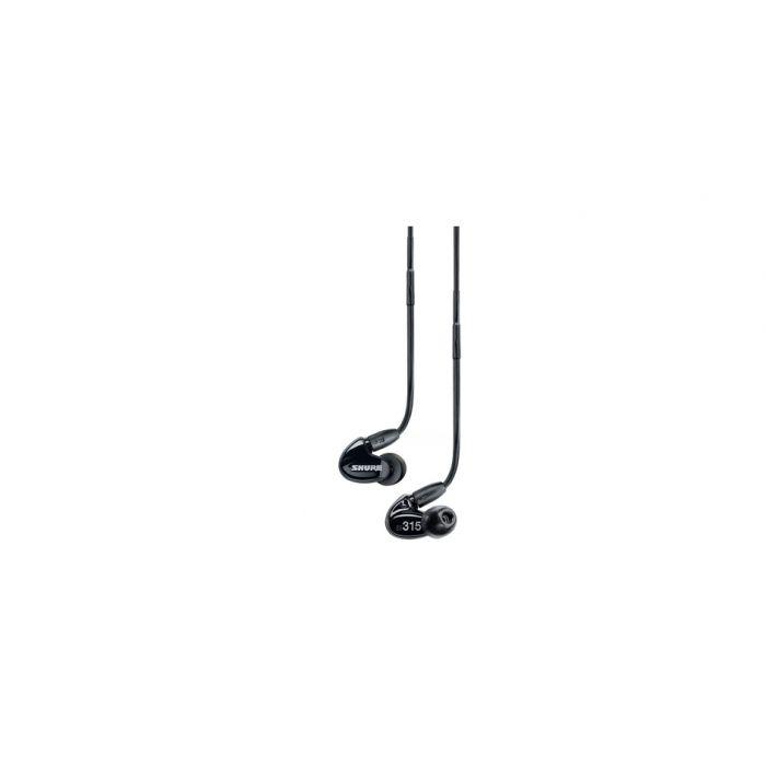 Shure SE315 In Ear Headphones - Black on White
