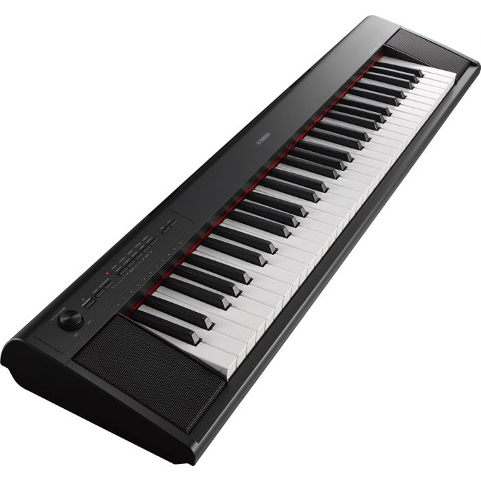 Yamaha Piaggero NP12 Portable Digital Piano, Black Angle