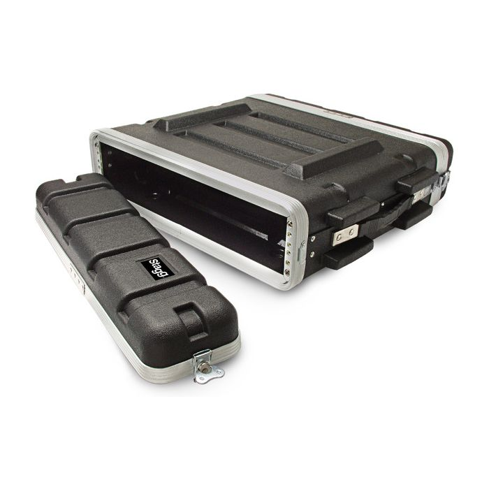 Stagg ABS-2U ABS Hard Case for 2-Unit Rack
