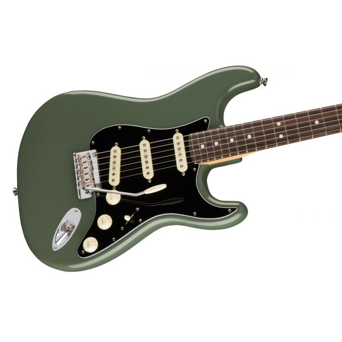 Fender American Professional Stratocaster RW, Antique Olive Angle