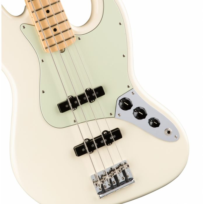 Fender American Professional Jazz Bass MN, Olympic White Body