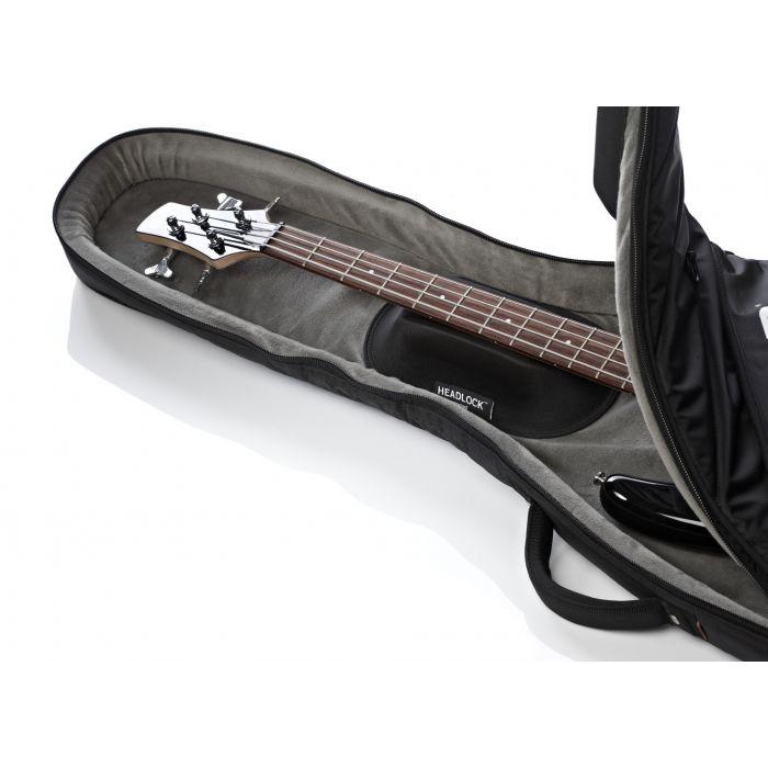 Mono Vertigo Electric Bass Guitar Case in Black Headlock Neck Suspension System