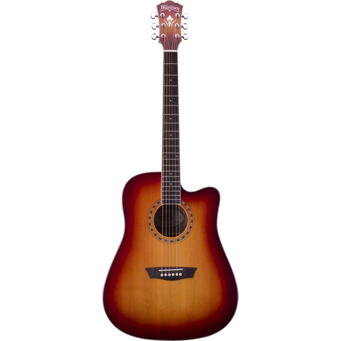 Washburn WD7SCE-ACS Electro-Acoustic Guitar in  Antique Cherry Sunburst Front