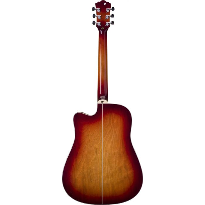 Washburn WD7SCE-ACS Electro-Acoustic Guitar in  Antique Cherry Sunburst Back