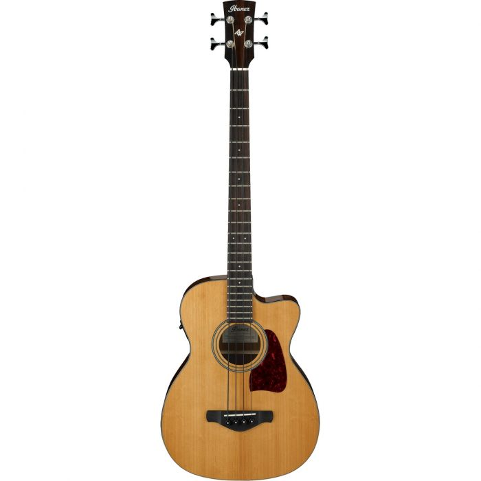 Ibanez 2017 AVCB9CE-NT Electro-Acoustic Bass, Natural High Gloss